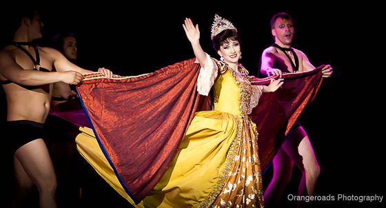 Reigning Queen 2011, Miss Indigo Blue, giving an incredible farewell performance.  ©OrangeRoads Photography