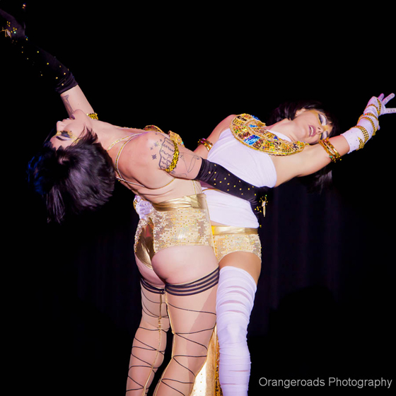 Lola Frost and Cherry OnTop, competing for \'Best Duo\'.  ©OrangeRoads Photography