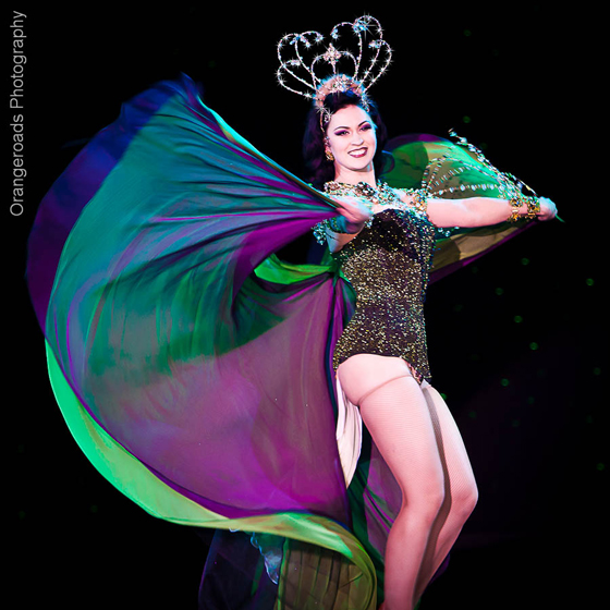 LouLou D\'vil, competing for Reigning Queen. ©OrangeRoads Photography