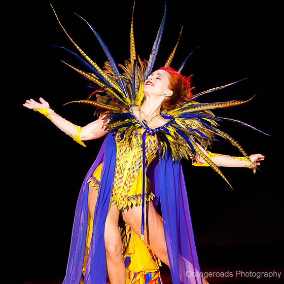 1ST RUNNER UP: Ophelia Flame competing for Reigning Queen. ©OrangeRoads Photography