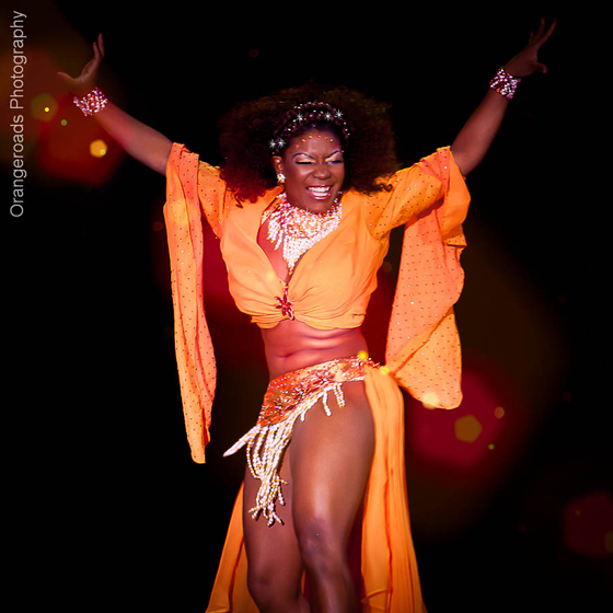 MOST DAZZLING DANCER: Perle Noire, competing for Reigning Queen. ©OrangeRoads Photography