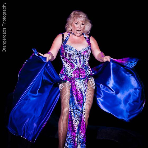 Burlesque Legend, Tiffany Carter. ©OrangeRoads Photography
