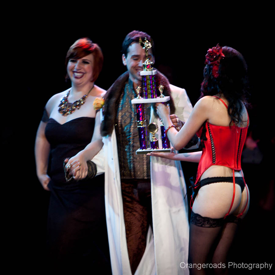 Best Duo: Jett Adore and Frenchie Kiss receive their trophy... ©OrangeRoads Photography