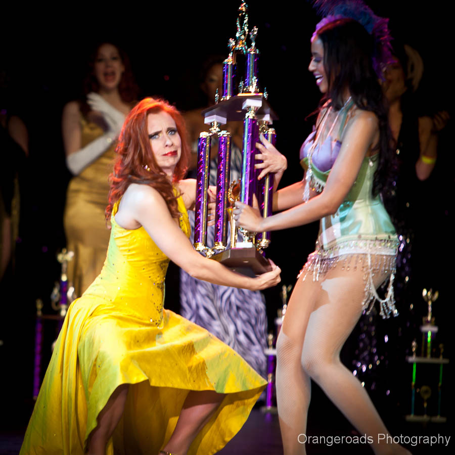 1st Runner Up Ophelia Flame receives her trophy... ©OrangeRoads Photography