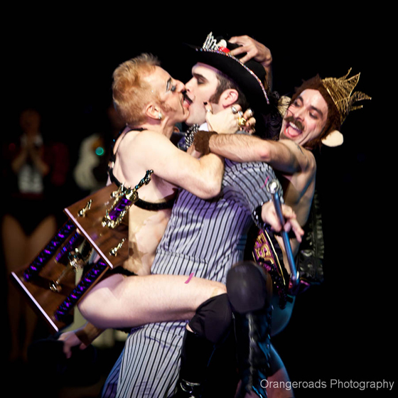 Best Boylesque/\'Reigning King\' Russell Bruner is crowned by Tigger! and The Evil Hate Monkey  ©OrangeRoads Photography
