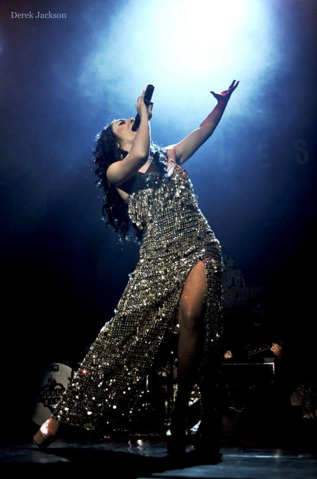 Athena performing in Bustout Burlesque.  ©Derek Jackson