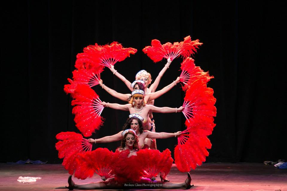 Holly Rebelle, Mischa Misschief, Mary Jane Monroe, The General Blackery and Joy Coy at the Colorado Burlesque Festival.  ©Broken Glass Photography
