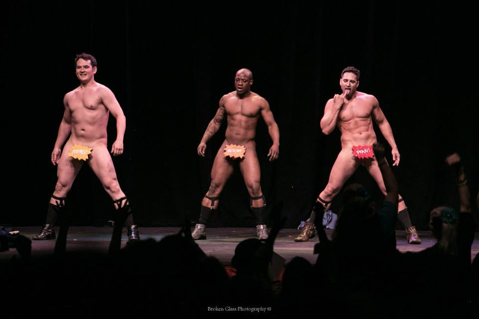 The Stage Door Johnnies at the Colorado Burlesque Festival.  ©Broken Glass Photography