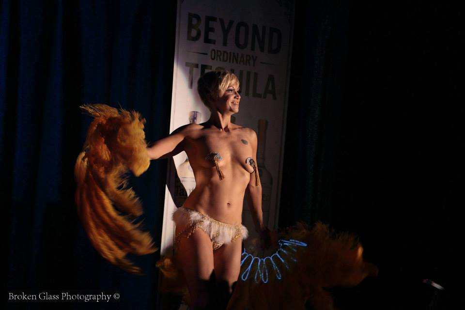 Kay Sera at the Colorado Burlesque Festival.  ©Broken Glass Photography