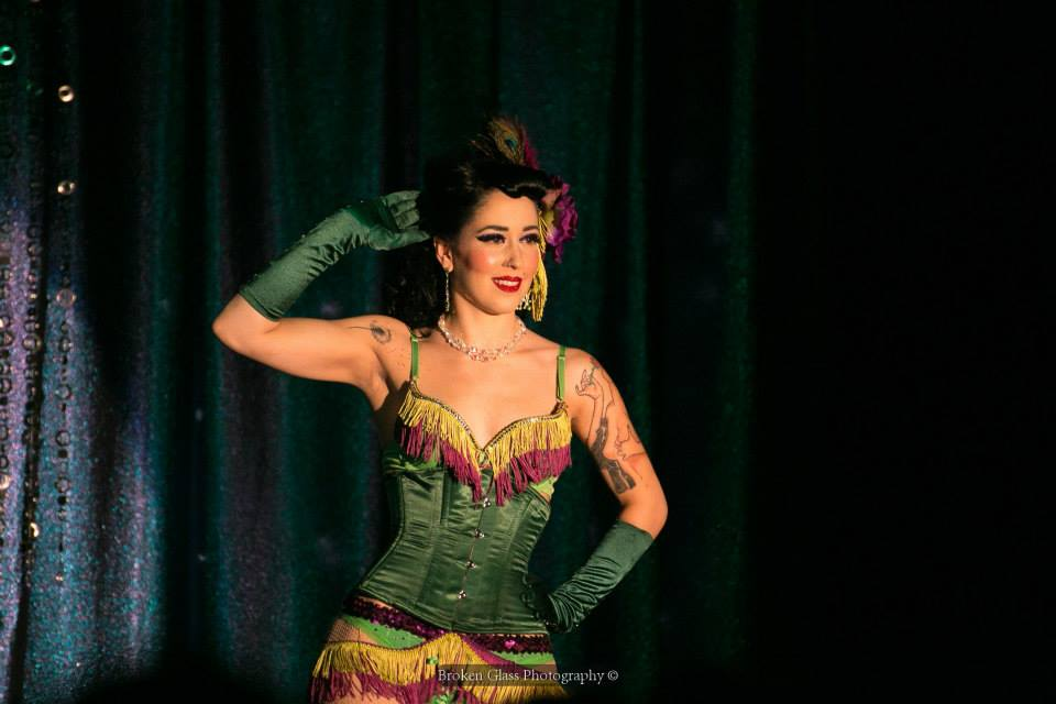 Violet Vendetta at the Colorado Burlesque Festival.  ©Broken Glass Photography