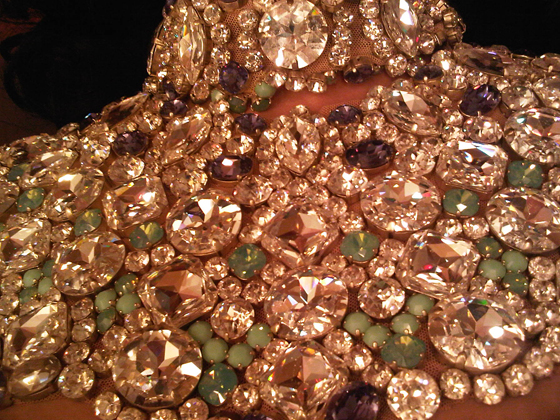 The collar of Dita's 'Be Cointreauversial' costume, by Catherine D'Lish.  © Strictly not to be used without permission.