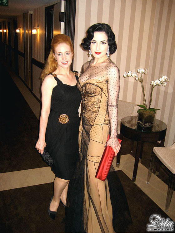 Dita and Catherine in a more recent photo.  ©Dita.net  Strictly not to be used without permission.