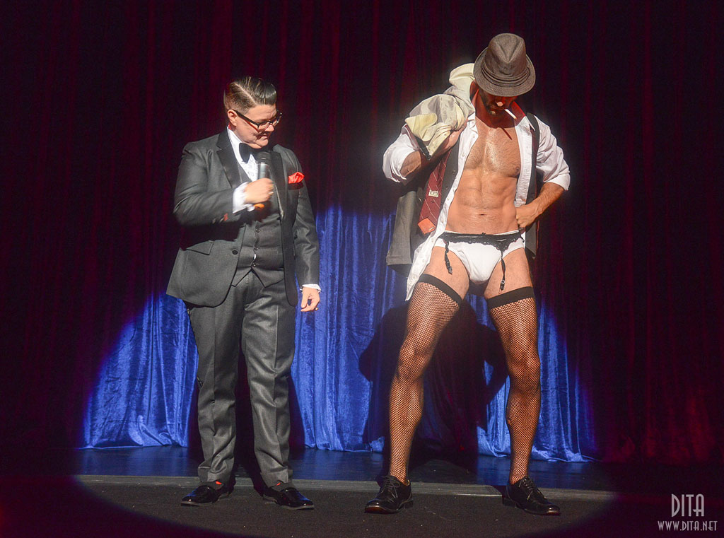 Murray Hill and Monsieur Romeo (Strip Strip Hooray!  Chicago 2013)  ©Scott Harrison