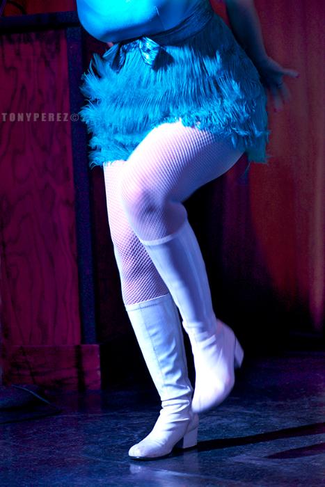 A Devilette in the San Francisco Dixie Evans Week Show. ©Tony Perez