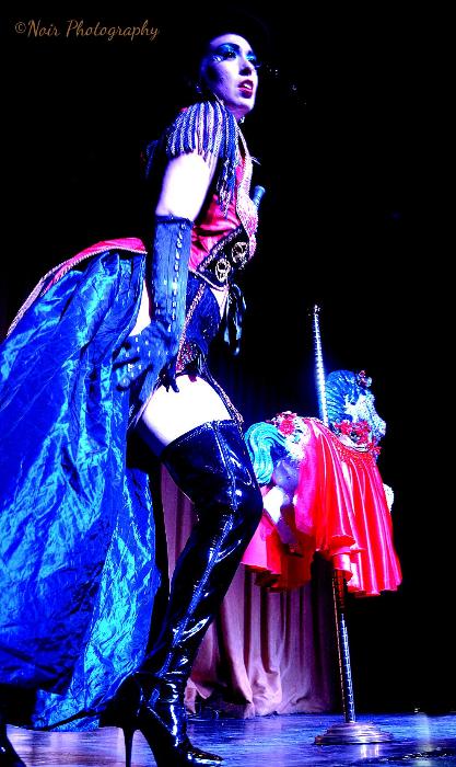 Lady Satan in the San Francisco Dixie Evans Week Show. ©Noir Photography