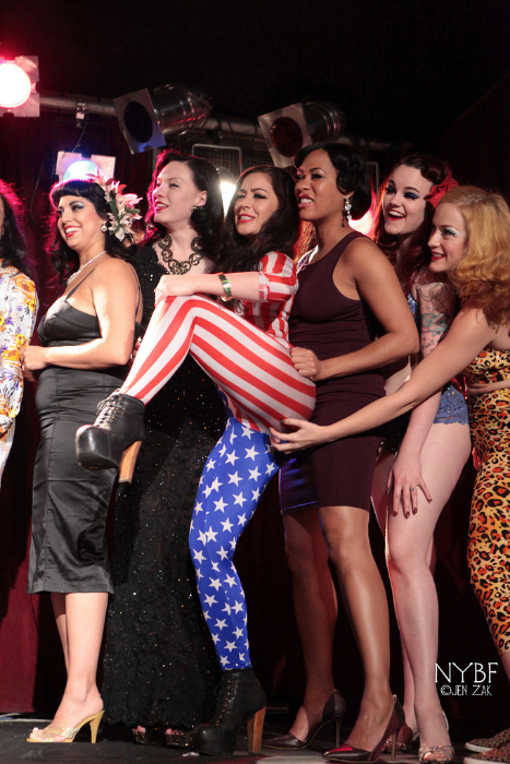 The cast of the New York Burlesque Festival 2013.  ©Don Spiro