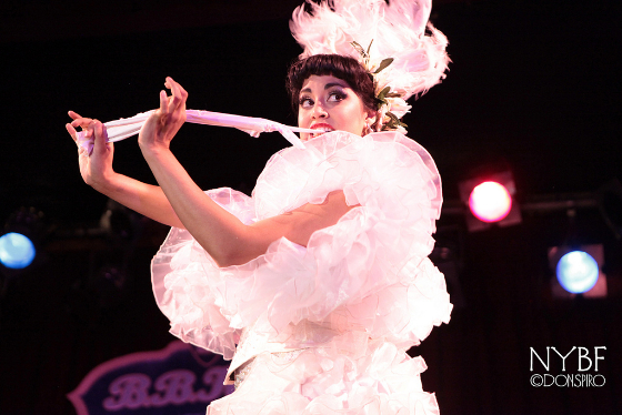 Coco Lectric at the New York Burlesque Festival 2013.  ©Don Spiro