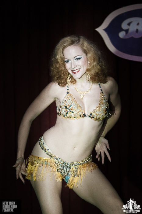 Gal Friday at the New York Burlesque Festival 2013.  ©Angela McConnell