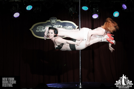 Gravity Plays Favourites at the New York Burlesque Festival 2013.  ©Angela McConnell