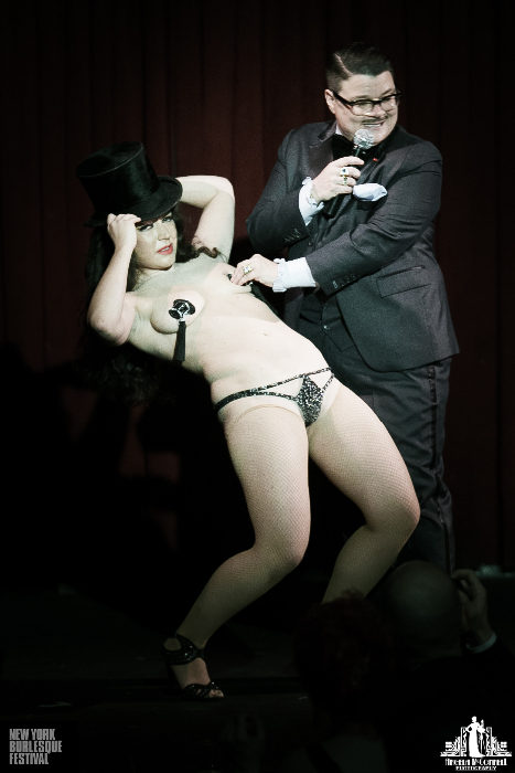 Kitty Bang Bang and Murray Hill at the New York Burlesque Festival 2013.  ©Angela McConnell
