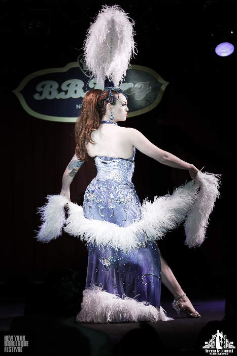 Luna Eclipse at the New York Burlesque Festival 2013.  ©Angela McConnell