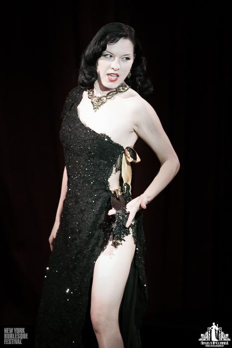 Orchid Mei at the New York Burlesque Festival 2013.  ©Angela McConnell
