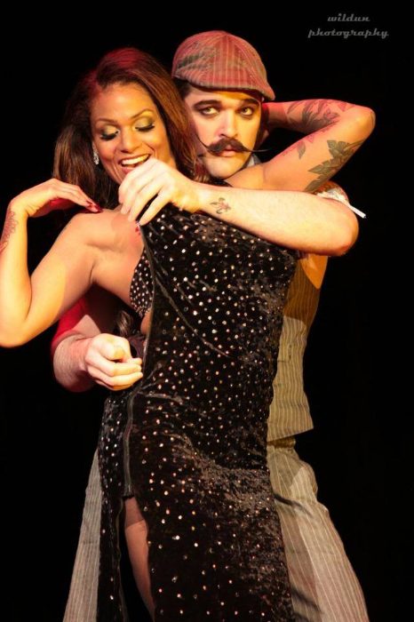 Sandria Dore and Russell Bruner at the San Antonio Burlesque Festival.   ©Wildun Photography