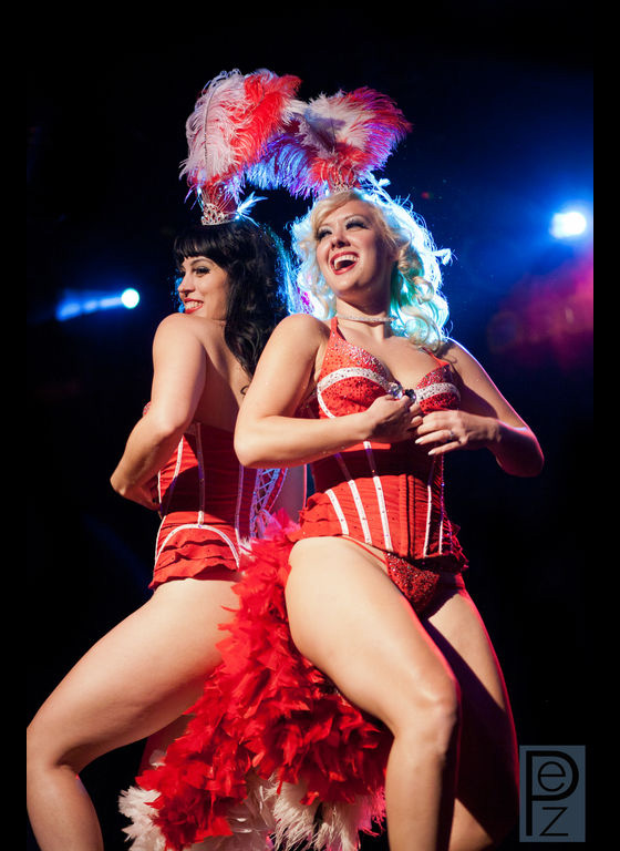 Ginger Valentine and Missy Lisa perform their duet in the Stripper\'s Holiday fundraiser show ©PEZ Photo