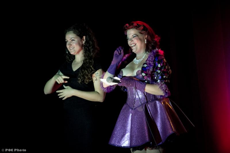 Cora Vette and the Sign Language Interpreters. ©POC Photo