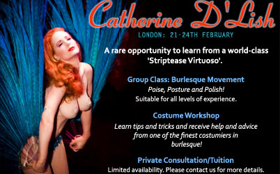 SCHEDULE CONFIRMED: Catherine D'Lish: London, 21st – 24th February.