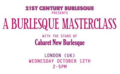 Burlesque Masterclass with Cabaret New Burlesque