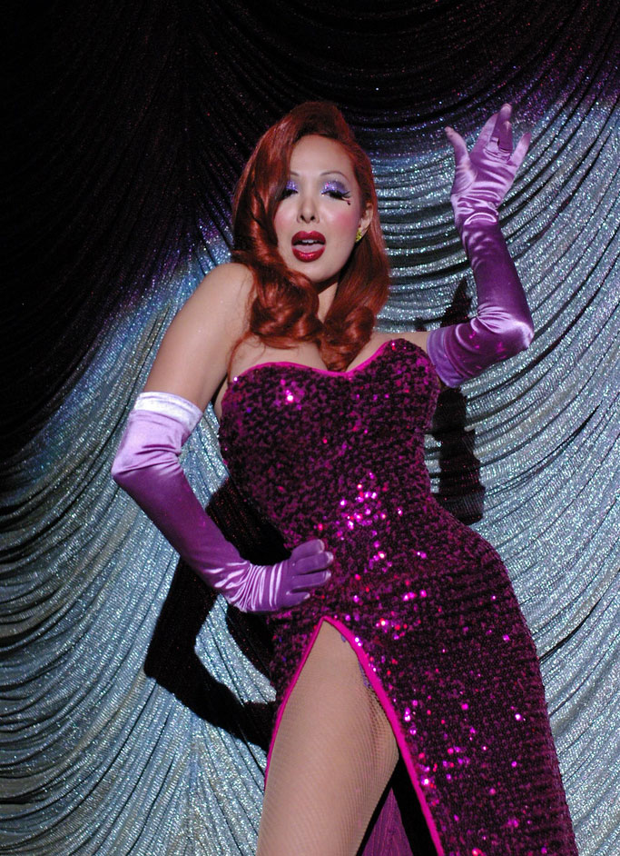 Kalani Kokonuts at Tease-O-Rama, as the most devastating Jessica Rabbit ever! ©Jo Weldon
