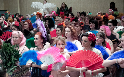 A look back at BurlyCon's record setting 'Largest Fan Dance'.