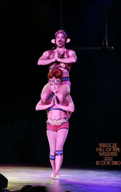 Trixie and Monkey at BHoF 2012.  ©Don Spiro
