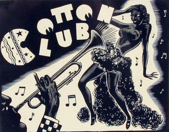 A Cotton Club woodcut.  (Race and Burlesque: The curious case of the performer of colour.)