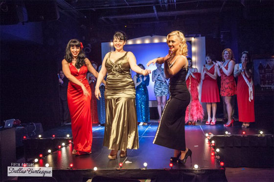 The Producers take a bow: Ginger Valentine, Black Mariah and Missy Lisa. ©Fresquez Fotoz