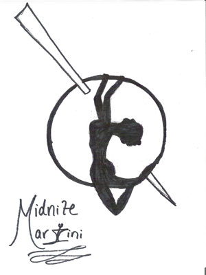 Midnite Martini's self portrait.  ©Midnite Martini