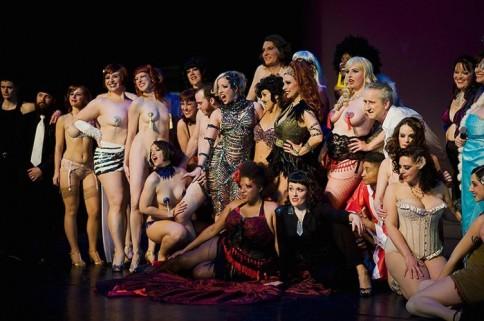Saturday Night Cast at the Minneapolis Burlesque Festival.  Leslie Plesser