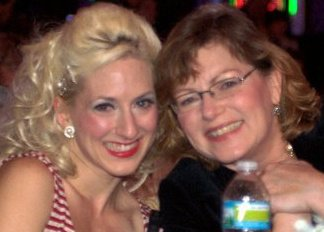 Lola Van Ella and her mother.  ©Lola Van Ella  (Burlesque Mother's Day special)