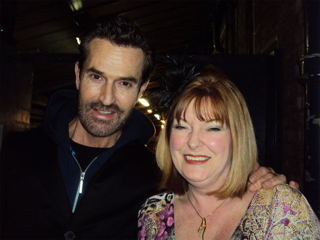 Polly Rae's mother with Rupert Everett.  ©Polly Rae  (Burlesque Mother's Day special)