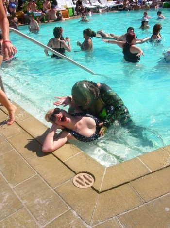 Rule #1 of BHoF: Be prepared for anything. Including pool monsters! (Burlesque Hall of Fame Weekend)