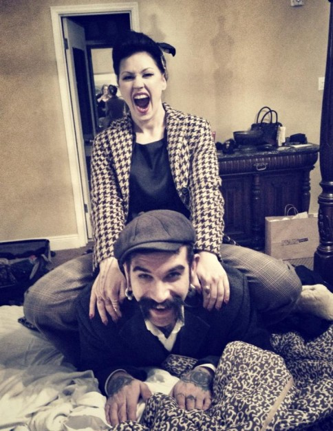 LouLou D'vil with her partner, The Baron.
