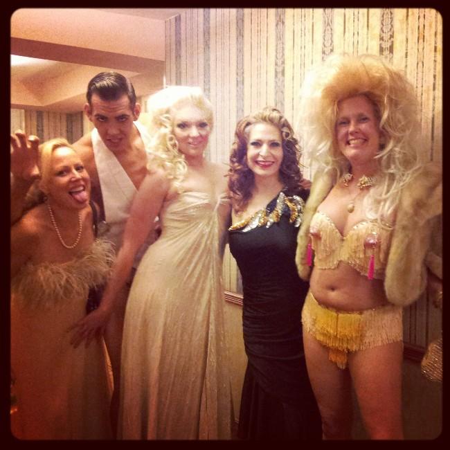 Whitney, Mr. Gorgeous, Lil' Miss Lixx, Me and Bambi the Mermaid heading down to the show!  ©Minnie Tonka
