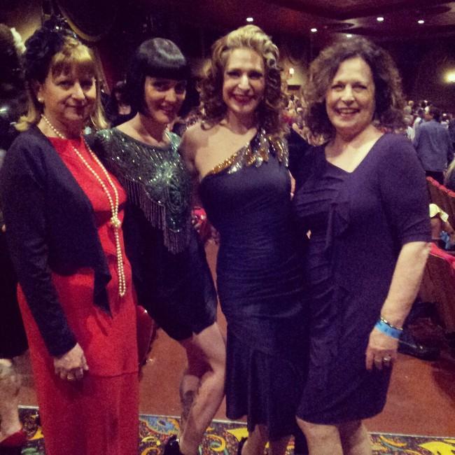 Mama Viper, Cleo Viper, Me and Mama Tonka pre-show Saturday!  ©Minnie Tonka