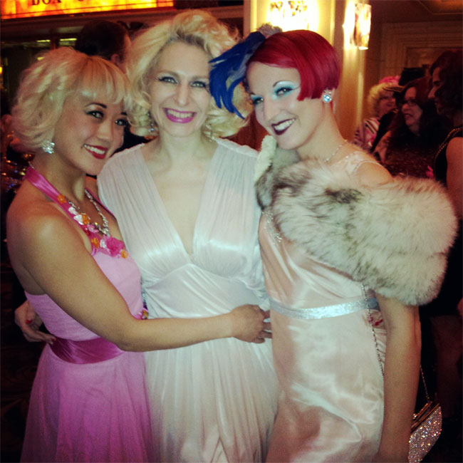 Reigning Queen competitors Midnite Martini, Minnie and Gin Minsky. ©Minnie Tonka (Burlesque Hall of Fame Weekend 2013)