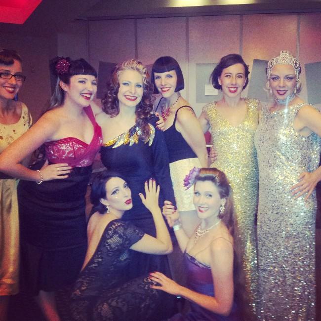 Me and my Australian sisters! (Coppelia Jane, Lila Luxx, Red Devotchkin, Tiffany Blue, Bella de Jac, Oopsy Daisy and Imogen Kelly.)  ©Minnie Tonka
