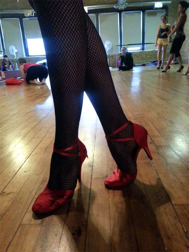 Ruby Joule's ruby slippers.  ©Black Mariah  (Stripper's Holiday 2013)