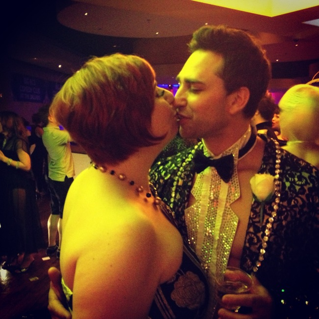 Feeling the love with Jett Adore at the Saturday Night After Party.  ©Frenchie Kiss  (Burlesque Hall of Fame Weekend 2013)