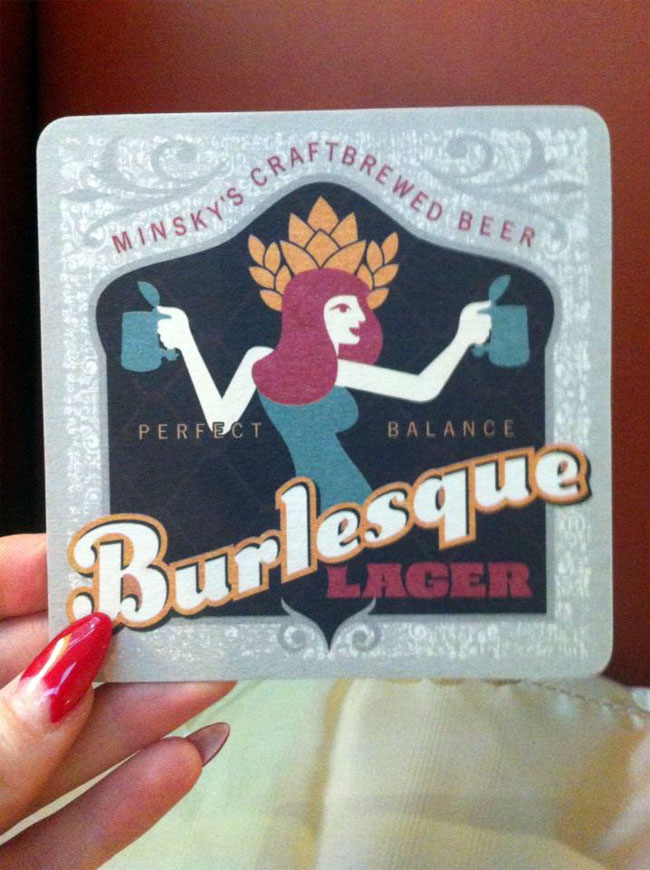 BURLESQUE BEER! What will they think of next? Made especially for the 3rd Annual Kansas City Burlesque Festival - Sponsor of Good Times!  ©Strawberry Siren
