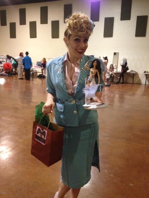 Peggy de Lune wins Best Solo at the Texas Burlesque Festival 2013.  ©Peggy de Lune